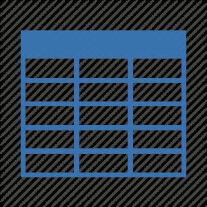 جدول در DB2